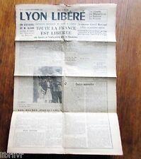 Journal LYON LIBÉRÉ N° 2 lundi 4 septembre 1944