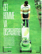 PUBLICITE ADVERTISING 016  1985  Land-Boy  tondeuse gazon 60 deluxe SP