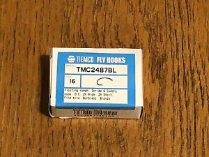100 Tiemco Fly Tying Hooks, TMC 2487BL, Size 16
