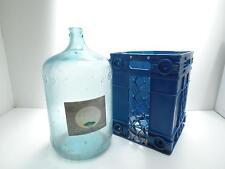 Arrowhead Puritas 75 Water Glass 5 Gallon Jug Bottle Reid Valve Cradle-Krate Vtg