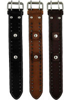 Nemesis Standard Size Stitched Leather Cuff Watch Band Bracelet Strap 20mm VTG