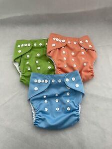 Alva Baby Cloth Diaper Covers No Incerts Lot of 3