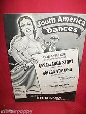 LUIGI LOMBARDI Casablanca story + Bolero italiano 1986 Spartiti SAMBA BOLERO