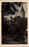 Hrad Křivoklát Pürglitz Tschechien s/w AK ~1950/60 Blick auf die Burg ungelaufen