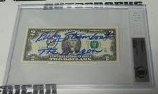 Ricky Steamboat Signed $2 Two Dollar Bill BAS Beckett COA WWE Currency Autograph