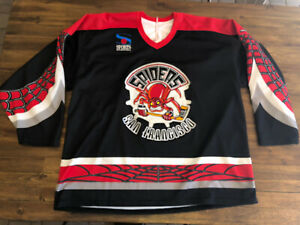 San Francisco Spiders IHL Minor League Hockey Jersey Black Red Bauer Adult XL