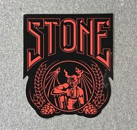 STONE BREWING CO Crusher Sticker 4in Brewery red/black si