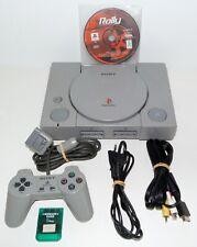 Lot console PSX PlayStation 1 SCPH-9002 + cables carte manette + jeu de courses