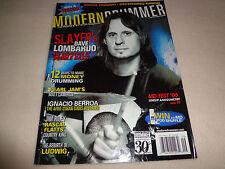 MODERN DRUMMER MAGAZINE-SLAYER'S DAVE LOMBARDO SEPTEMBER 2006-EUC