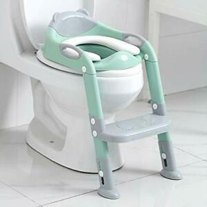Potty Training Seat Boys Girls,Toddlers Potty Seat Toilet Chair, Gray/Green