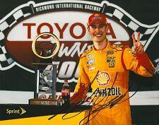 JOEY LOGANO signed NASCAR 8X10 TROPHY photo with COA
