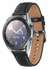 Samsung Galaxy Watch3 SM-R850 41mm cassa in acciaio inossidabile Mystic Silver con cinturino in pelle nero (Bluetooth) - SM-R850NZSAEUA