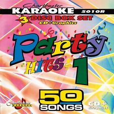 Chartbuster 5010 Karaoke 3 CD+G Party Hits vol-1 in Case Includes Song List