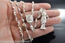 Rosario Santa Muerte Plata .925 Sterling Silver Reaper Rosary Death Skull Beads