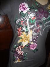 NWOT Fox Racing Riders Motocross gray floral gears Tee shirt XS (small)