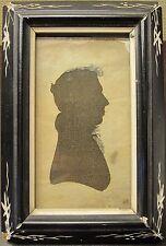 ANTIQUE 1817 HOLLOW-CUT SILHOUETTE BRIMFIELD MA LAST ORIGIN ORIGINAL FRAME ID'D