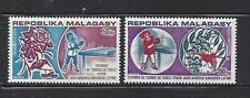 MADAGASCAR (MALAGASY) - C124-C125- MLH - 1974- TABLE TENNIS TOURNEY, PEKING