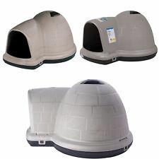 Black Igloo Dog House Heavy Duty Indigo Mircoban Taupe w/ Ventilation M L Xl