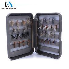 Dry Flies Assortment Fly Fishing Trout Grayling 14# 32Pcs Barbed Slit Foam Box