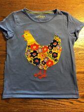 Mini Boden Girls Size 7-8 Chicken Short Sleeve Tee Shirt