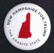 "2016 Donald Trump 2.25"" / ""New Hampshire - White"" Official Campaign Button"