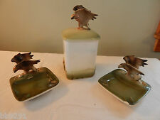 Vintage 1959 Holt Howard HH Japan Eagle Jar & Ashtray RARE Set
