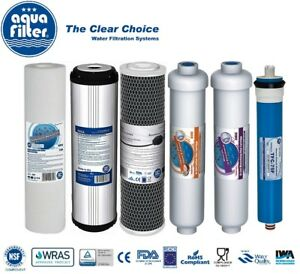 Replacement Filters and Membrane for 6 Stage Reverse Osmosis Aquafilter