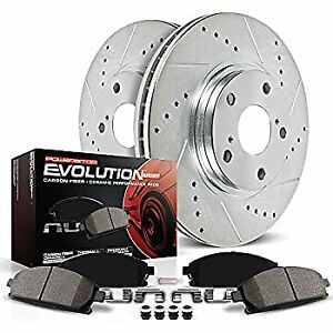Power Stop K2139 Front Z23 Evolution Brake Kit with Drilled/Slotted Rotors and