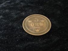 Suecia 5 Öre moneda, que data de 1876