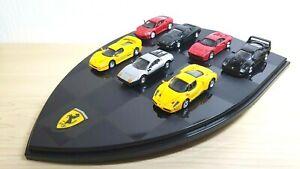 1/72 DyDo Hot Wheels Mattel FERRARI  7 Car SET w/ Display F40 F50 Enzo 288 GTO