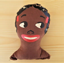 Large Antique African American Cloth Doll Head