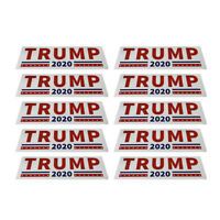 10Pcs/set Bumper Sticker Donald Trump For President 2020 General Election Decal