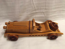 Wood Carved Replica of 1931 Mercedes Benz SSKL Car L'Hommes Collection