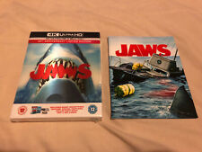 STEVEN SPIELBERG JAWS LIMITED BLU-RAY 4K COLLECTOR STEELBOOK w/REPRINTED BOOKLET