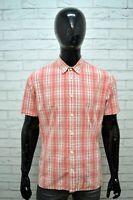 Camicia a Quadri Uomo LEVI'S Taglia L Maglia Camicetta Manica Corta Shirt Hemd