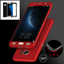 360° Full Protection Hybrid Acrylic Case+Screen Film Protector Cover For Samsung