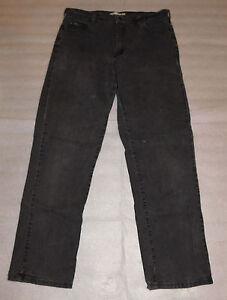 Lee Womens Black Jeans Relaxed Straight Leg 10 Medium Cotton Blend 28 Inseam