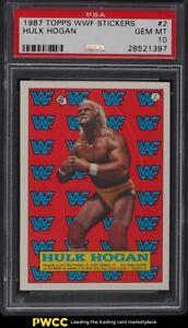 1987 Topps WWF Stickers Hulk Hogan #2 PSA 10 GEM MINT