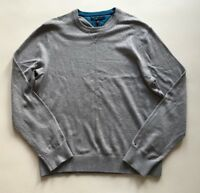 "TOMMY HILFIGER JUMPER. SIZE XL (44""). GREY. RRP £120."