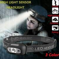 Waterproof LED Headlamp USB Rechargeable Headlight Head Light Torch Flashlight//