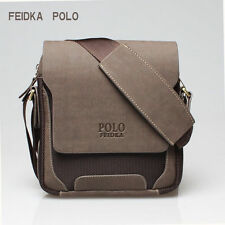 Men's Leather Shoulder Bag Travel Bag POLO Male Messenger Bag Man Crossbody Bags