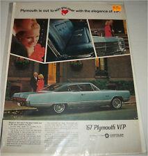 1967 Plymouth VIP 2 dr ht car ad