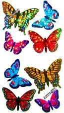 ~ Sparkle Butterfly Butterflies Yellow Monarch Hambly Studios Glitter Stickers ~