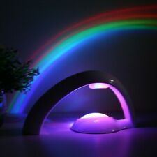 Rainbow Color Night Lamp LED Rainbow Projector Light Gift Kids Toy Home Room