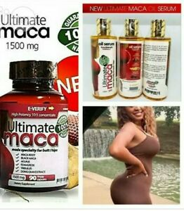 Ultimate Maca Butt/Hip enlargement oil and pill ( 3 Months Supply )