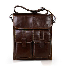 New Men's Genuine Leather Vintage Business Messenger Bags Crossbody Bags