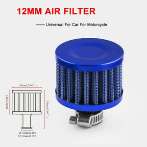 12 mm BLACK MINI AIR INTAKE CRANKCASE BREATHER FILTER VALVE COVER VENT Blue Mini