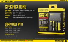 Nitecore Battery Charger I4 Intellicharger AA AAA AAAA C 26650 22650 18650 18350