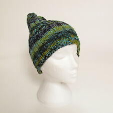 Funky Hand Knitted Winter Woollen Beanie Hat, One Size, UNISEX NB3