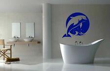 Wall Vinyl Sticker Room Decals Mural Design Dolphin Fish Sun Sea Ocean bo1577